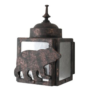 Alcott Hill Penfield 1-Light Outdoor Flush Mount