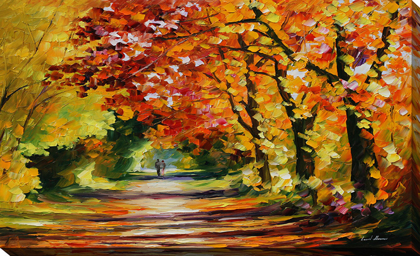Pictureperfectinternational Sunny Path By Leonid Afremov Painting Print On Wrapped Canvas Wayfair