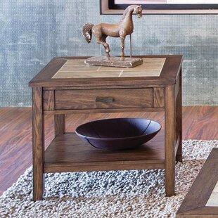 Gauna Wood End Table