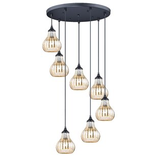 Creola Mercury Glass 1-Light Cluster Pendant by Wrought Studio
