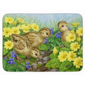Pheasant Chicks Memory Foam Bath Rug