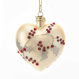 champagne heart ball ornament