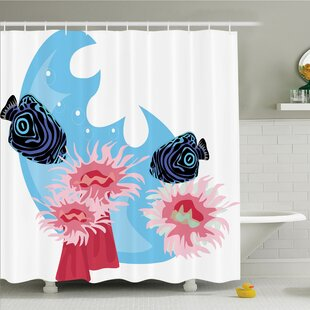 Animal Tropical Fish Cartoon Shower Curtain Set