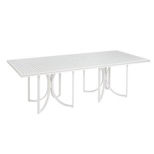 Dani Outdoor Empire Slat Top Rectangle Dining Table Highland Dunes