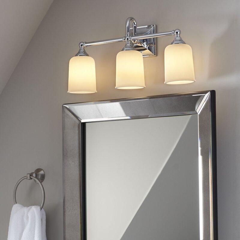 3 light vanity brushed nickel beacon 3light vanity light birch lane heritage reviews lane