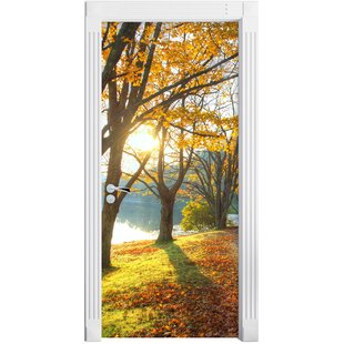 Sunny Park By A Lake Door Sticker By East Urban Home