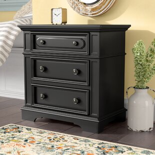 Buy luxury Linda 3 Drawer Nightstand By Darby Home Co