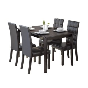 Cesar 5 Piece Dining Set Latitude Run