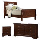 Waynesburg Queen Solid Wood Sleigh 3 Piece Configurable Bedroom Set by Alcott Hill®