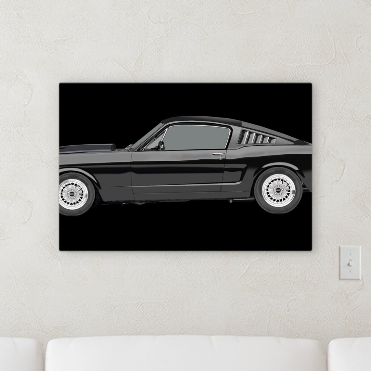 Orren Ellis Ford Mustang Graphic Art Print On Canvas Wayfair