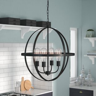 Wrought Studio Washtenaw 4-Light Chandelier