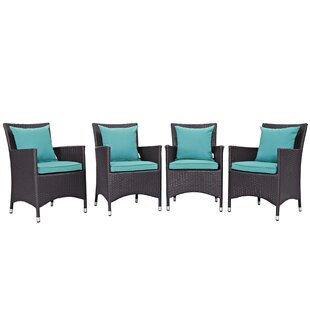 Brentwood Deep Seating Chair with Cushion (Set of 4) By Sol 72 Outdoor