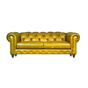 Italian Genuine Leather 3 Seater Chesterfield Sofa By BelleFierté