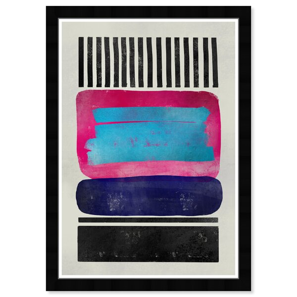 Ebern Designs Abstract Living Room Shapes Picture Frame Graphic Art Print On Paper Wayfair