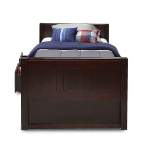 Oakwood Twin Platform Bed with Drawers by Harriet Bee