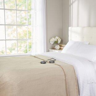 Channeled Microplush Heated Blanket