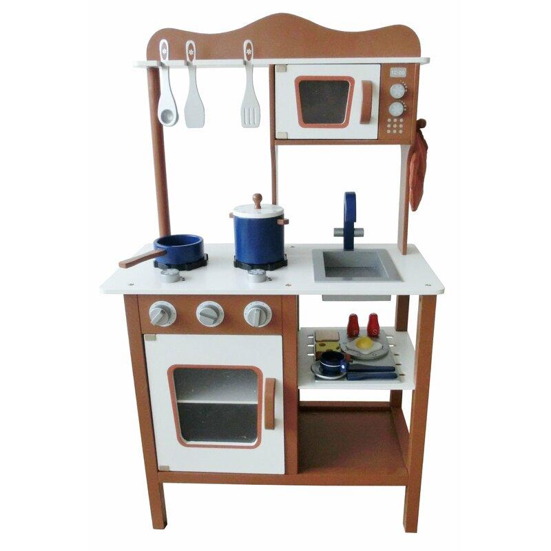 Modern Wooden Play Kitchen