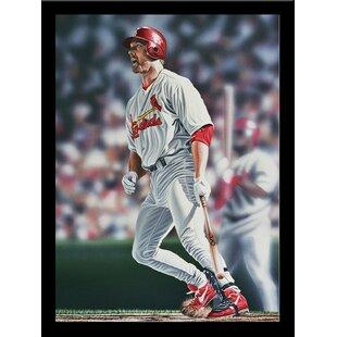 'Mark McGwire St. Louis Cardinals' Print Poster by Darryl Vlasak Framed Memorabilia ByBuy Art For Less