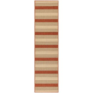 Roby Stripe Red/Ivory Indoor/Outdoor Area Rug