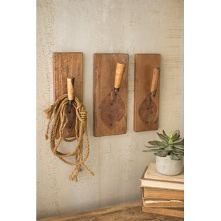 Philpott Repurposed Trowel 3 Piece Wall Mounted Coat Rack Set