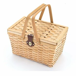 Woven Woodchip Picnic Basket
