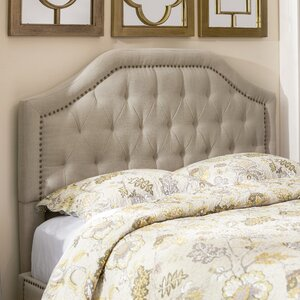 Djibril Scalloped Upholstered Panel Headboard
