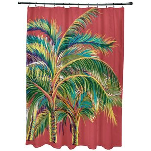 Bay Isle Home Geranium Vacation Floral Shower Curtain