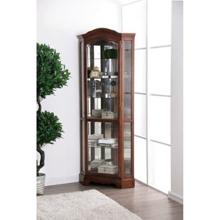 Charlton Home Lederer Traditional Style Wooden Corner Cabinet