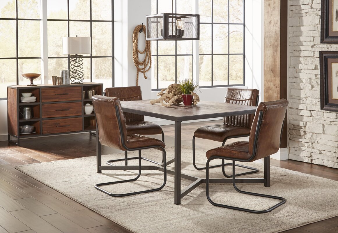 trent austin design tuscarora genuine leather upholstered dining
