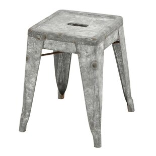 Metal Galvanized Stool (Set of 2)