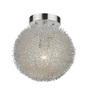 Great deal Simonsen 1-Light Semi Flush Mount By Orren Ellis