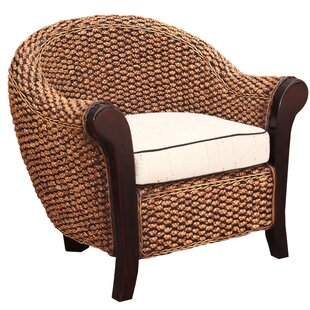 Chic Teak Water Hyacinth Soldano Barrel Chair