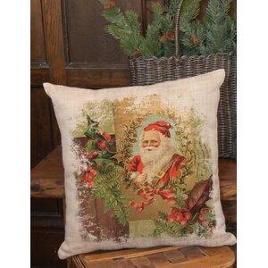 Woodland Christmas Santa Pillow Cover