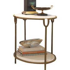 Iron and Stone End Table by Global Views