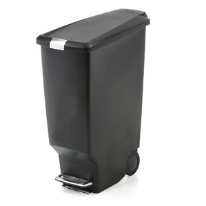 Plastic 10.6 Gallon Step On Trash Can
