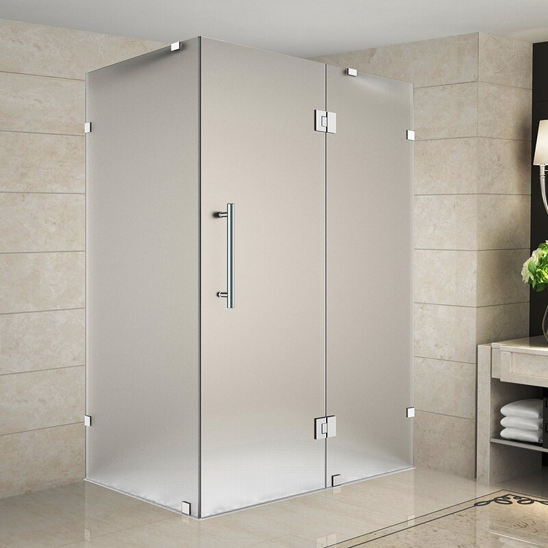 Aston avalux 48 x 36 x 72 completely frameless hinged shower avalux 48 x 36 x 72 completely frameless hinged shower enclosure frosted planetlyrics Gallery