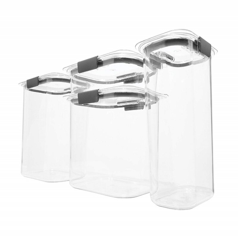 Rubbermaid Brilliance Pantry Airtight 4 Container Food Storage Set