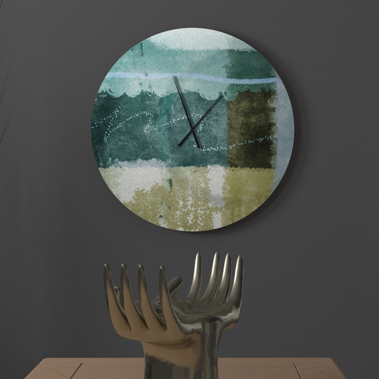 Latitude Run Highest Fresh Abstract Metal Wall Clock Wayfair