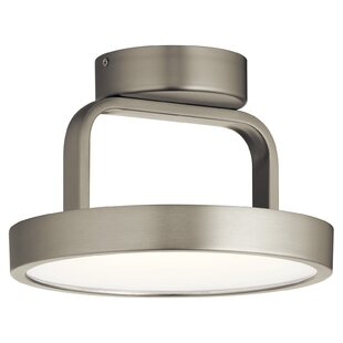 Rutz 1-Light LED Semi Flush Mo..