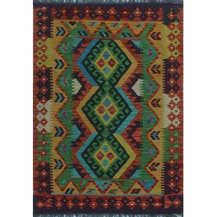 Price comparison One-of-a-Kind Renita Kilim Hand-Woven Wool Brown/Black Area Rug By Isabelline