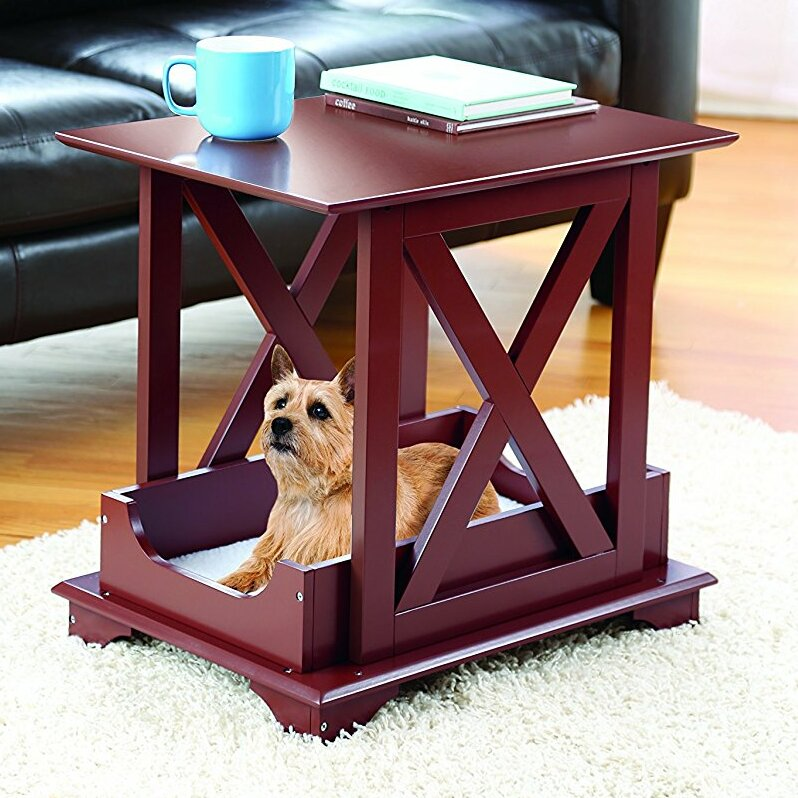 bed end table. allgood pet bed end table with removable fleece cushion
