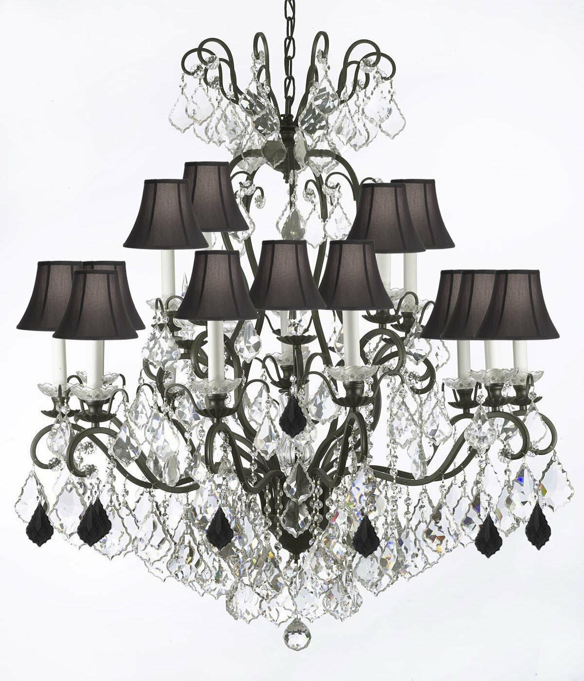 Astoria Grand Maclean 16 Light Shaded Tiered Chandelier Wayfair