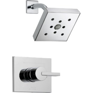 Affordable Vero Diverter Shower Faucet Trim with Lever Handle and H2okinetic Technology By Delta