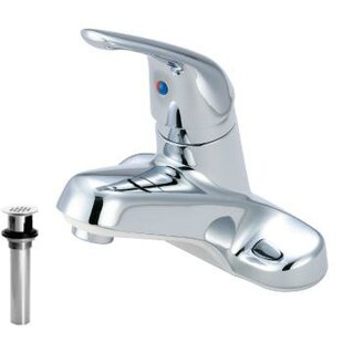 Just Manufacturing Centerset Bathroom Faucet with Grid Drain Image