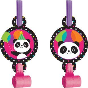 Panda Plastic/Paper Disposable Party Favor Set