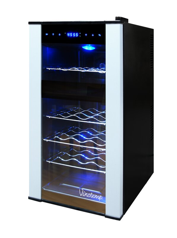 18 Bottle Dual Zone Freestanding Wine Cooler