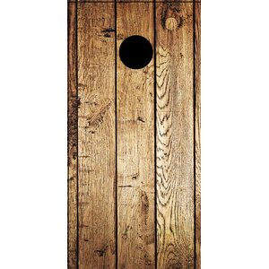 Weathered Wood Cornhole Board