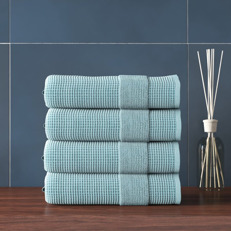 Louissaint 4 Piece 100 Cotton Bath Towel Set Reviews Allmodern