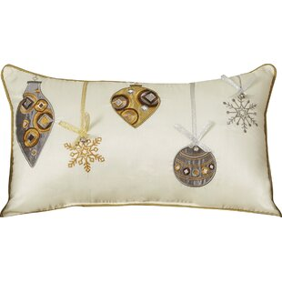 Holiday Ornaments Lumbar Pillow