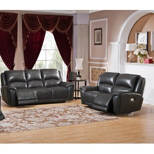 Mikel Reclining 2 Piece Leather Living Room Set by Red Barrel Studio